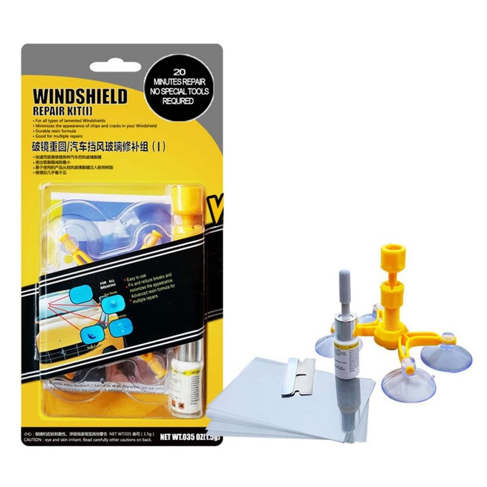 4pcs/Set Glass Repair Tool Car Windshield Repair Tool Auto Glass Mending Sucker Window Screen Restore Instrument Cracks Removing