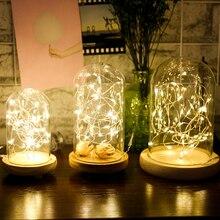 2M5M10M светодиодный струнный светильник Cooper Серебристая проволока водонепроницаемый праздничный светильник ingFor Рождество Фея Свадьба Вечеринка наружное украшение