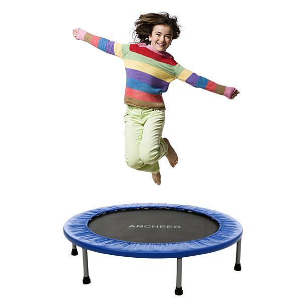 Outdoot Trampoline Jumping Trampolines Trampoline For Kids Bounce for Black Fitness Equipment General Round Frame