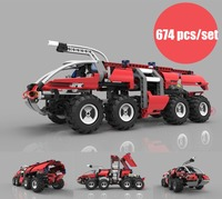 New Technic Series Changing The Airport Fire Truck fit legoings technic truck city Building Block BricksToy gift kid