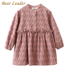 Bear Leader Girls Dress 2017 New Autumn Brand Girls Clothes Casual Style Small Grass Lace Dress Design Baby Girls Dress For 3-7Y
