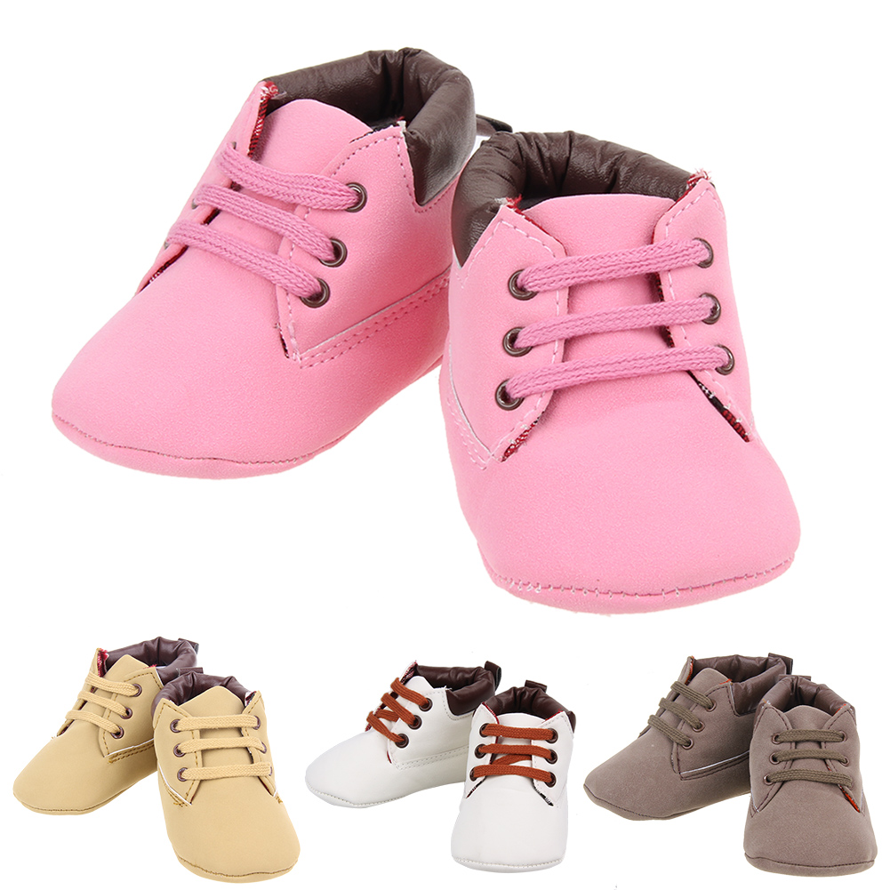 Baby Shoes Kids Baby Infant Toddler Boots Warm Prewalker Anti-slip Soft Sole Artificial PU Shoes 3 To 12 Months