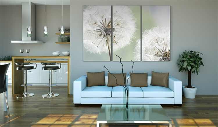 3 pieces framed Wall Art Picture Gift Home Decoration Canvas Print painting Fashion dandelion series wholesale