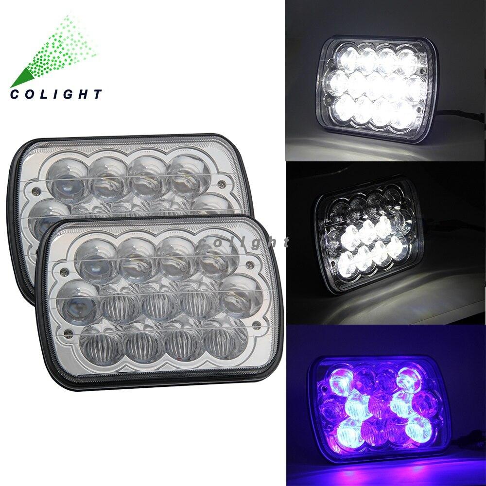 CO LIGHT Led Headlight High Low Beam 7*6 55W 12V 24V 3060lm 6500k IP68 30000h for 4X4 Cherokee XJ YJ 27450C/H6054/H6053/H6052