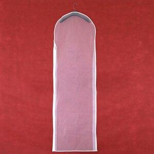 Image 2 - 2 Mặt Trong Suốt Voan Pha Lê Sợi Cưới Đầm Cô Dâu Bụi Có Dây Kéo Cho Gia Đình Tủ Quần Áo Váy Bầu Túi Bảo Quản AC018