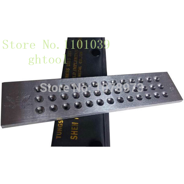 Free Shipping 20 Holes Tungsten Carbide Draw Plate Hole Size 1.10-3.00mm Horse Eye Shape Drawplates jewelery tools
