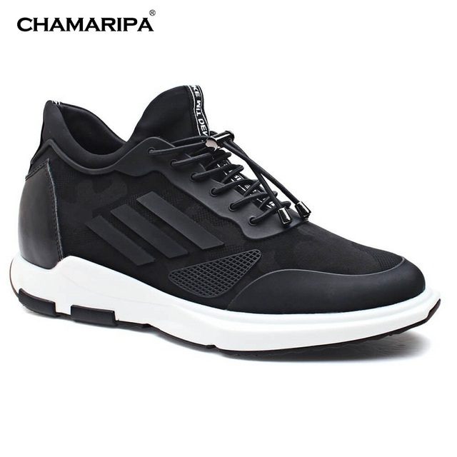 63cfc8f9cb77 CHAMARIPA Men Elevator Shoes Sneaker Leather With Hidden Heel Increase  Height 7cm 2.76 inch New Fashion Shoes H72C11K163D