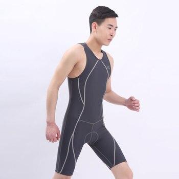 unisex Swimwear Surf Clothing Shirt Thin Swimsuit Rash Guards Patchwork One Piece wetsuit cycling suit triathlon swimwear