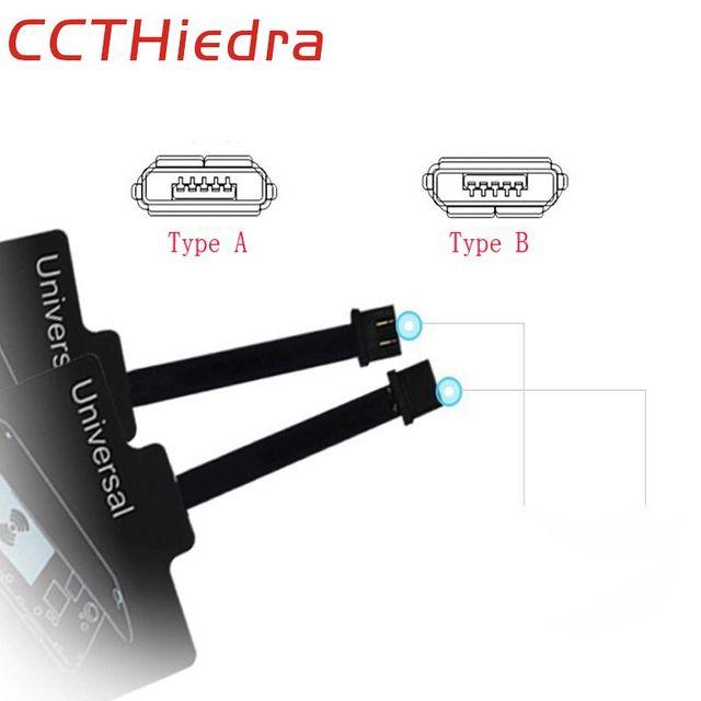 Ccthiedra QI Беспроводной Зарядное устройство приемника Micro Зарядка через USB адаптер рецепторов США чип TI для Xiaomi Huawei HTC LG Android Тип A b