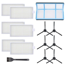 Vacuum Filter Kit Replacement for Robotic Vacuum Ilife V3 V3S V5 V5S,Pro Robot Vacuum Cleaner Filters and 6 Side Brushes and 1 цена и фото