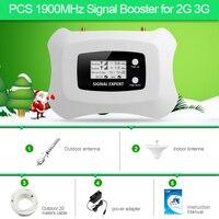Лучшая цена полный интеллектуальный 1900 мГц сотовый телефон gsm 2 г 3G сигнала booter усилитель для домашнего использования 3G сигнала мобильного т...