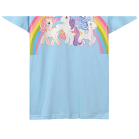18 Summer New Style Cartoon Pony Rainbow Printing Women S T Shirt Short Sleeve Fashion Bottoming