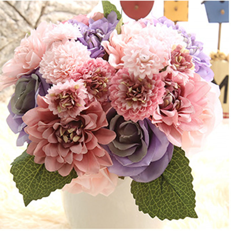 Diy peony bouquet flower simulation wholesale trade of for Arts and crafts wholesale