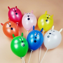 10 Pcs Cute Rabbit Inflatable Ball Wedding Party Decoration Latex Balloons Kids Toy