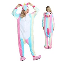 Kigurumi Unicorn Animal Pajamas Stitch Panda Pokemon Pikachu Onesie Adult Unisex Cosplay Costume Sleepwear For Kids