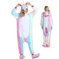 Kigurumi Unicorn Animal Pajamas Stitch Panda Pokemon Pikachu Onesie Adult Unisex Cosplay Costume Sleepwear For Kids