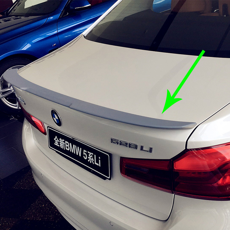 G30 530i 540i Modified M4 Style ABS Rear Luggage Compartment Spoiler Car Wing For BMW G30 2017UP g30 v style abs unpainted primer rear trunk lip spoiler wing for bmw 530i 540i g30 2017up