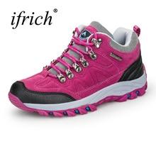 Ifrich Треккинговые ботинки Для женщин уличная зимняя Mountain Обувь Для женщин износостойкая Охота Сапоги и ботинки для девочек для Для женщин Фиолетовый Спорт Сапоги и ботинки для девочек Для женщин