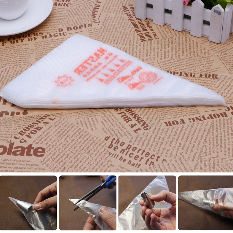 Image 5 - 100PCs/set Disposable Pastry Bags Cake Decoration Kitchen Icing Food Preparation Bags Cup Cake Piping Tools for Baking-in Baking & Pastry Tools from Home & Garden