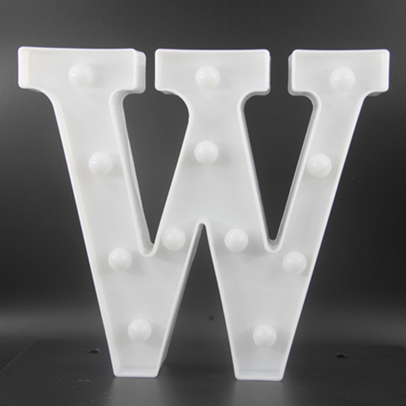 22CM White Letters LED Night Light Marquee Sign Alfabet - Nattlampor - Foto 3