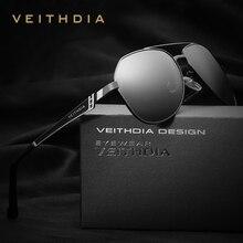VEITHDIA Brand Designer Stainless Steel Men's Sunglasses Polarized Mirror Lens Eyewear Accessories Sun Glasses For Men 3559