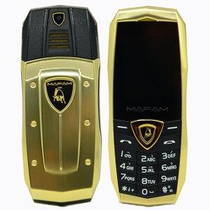 Image 1 - MAFAM A18 ロシア語アラビア語スペインフランス振動高級金属ボディ車のロゴデュアル sim gsm 中国の携帯電話在庫