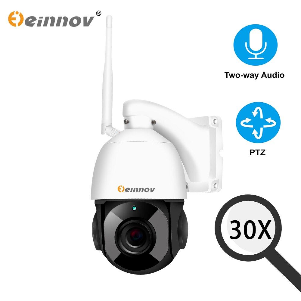 Einnov 30X Zoom Câmera de Vigilância de Vídeo HD 1080P Câmera PTZ IP Wi-fi Ao Ar Livre Câmera de Segurança Sem Fio Em Casa CCTV Dois way Áudio