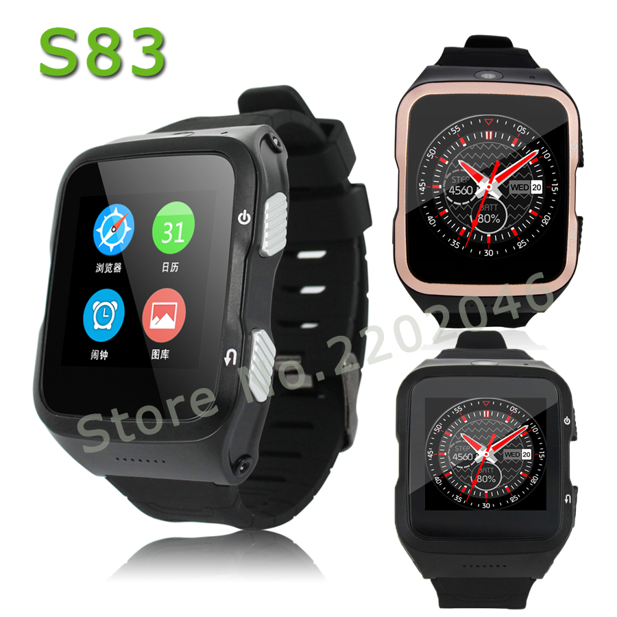 ZGPAX S83 smartwatch 3G Bluetooth Smart Watch Android 5.1 support SIM GPS Wifi HD Camera Smartwatch for Android iOS Phone watch new children smart watch kid boy girl bluetooth smartwatch phone gps positioning sos monitoring support sim card for ios android