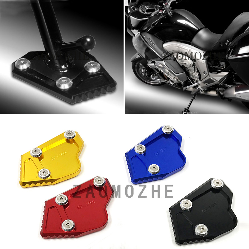 Motorcycle Accessories For BMW K1600GT K1600GTL 2011 2015 CNC Aluminum Side Stand Kickstand Extension Enlarger Plate in Handlebar from Automobiles Motorcycles