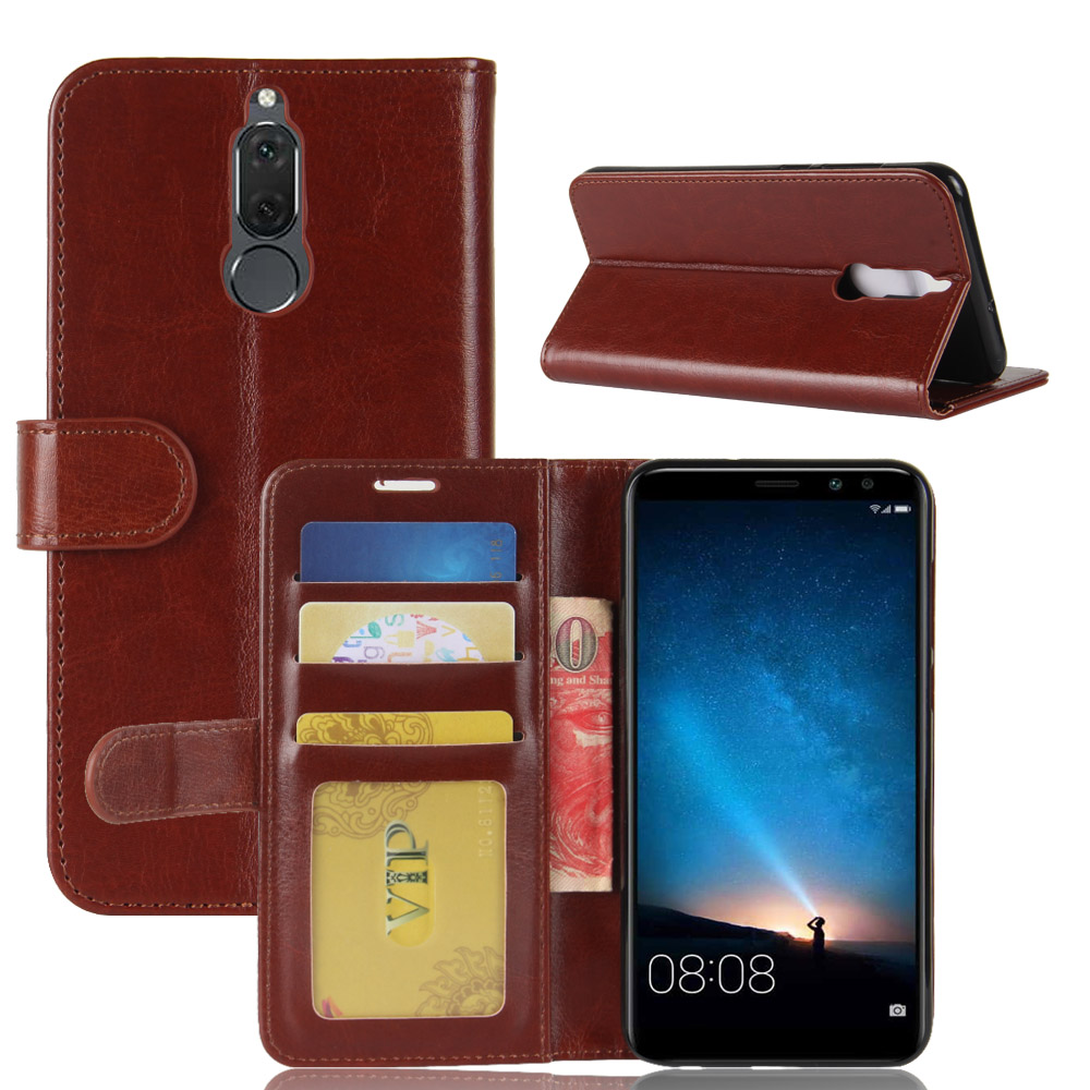 Mate10Lite Case for Huawei Mate 10 Lite Mini Cases Wallet Card Stent Book Style Flip Leather Covers Cover black Mate10mini