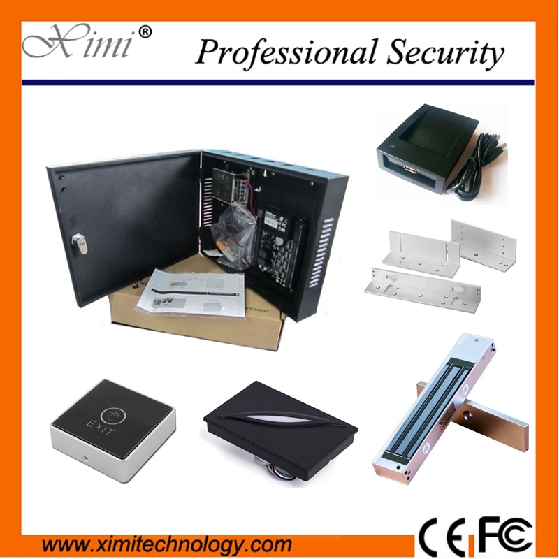Good Quality One Door Access Control System ZK C3-100 Access Control Board With Power Supply Box professional