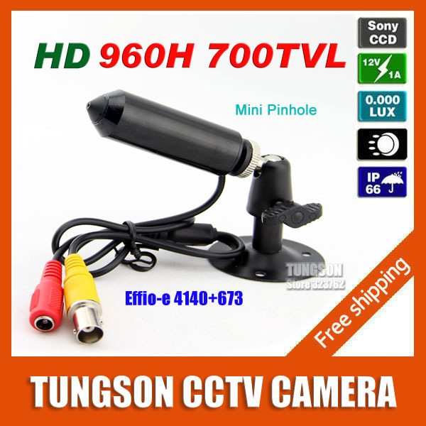 Sony 960H CCD Effio Pinhole 3.7mm Lens 700TVL Micro Video Surveillance Cam Small Bullet Mini CCTV Camera Security Free Shipping