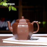 300 мл подлинный исинский чайник шестиугольные фонари горшок мастер ручной работы из китайской фиолетовой глины заварочный чайник; чай чайн