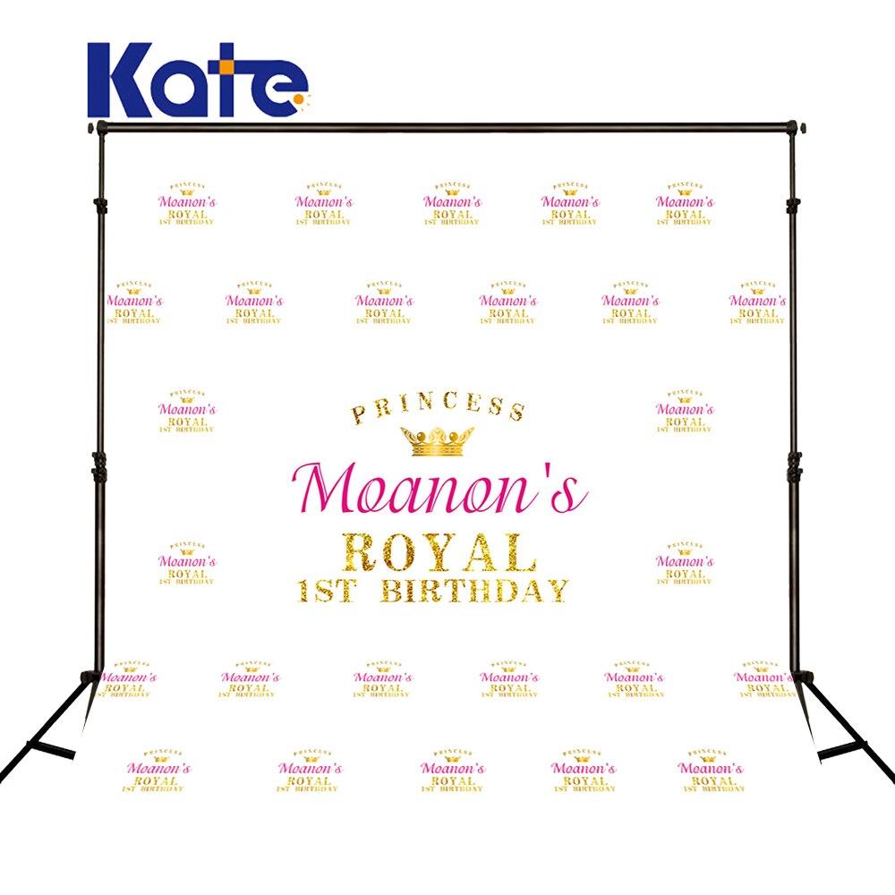 Kate 5X7FT couronne blanche nouveau-né anniversaire photographie décors personnalisé bébé photographie tissu fête arrière-plans photographiques
