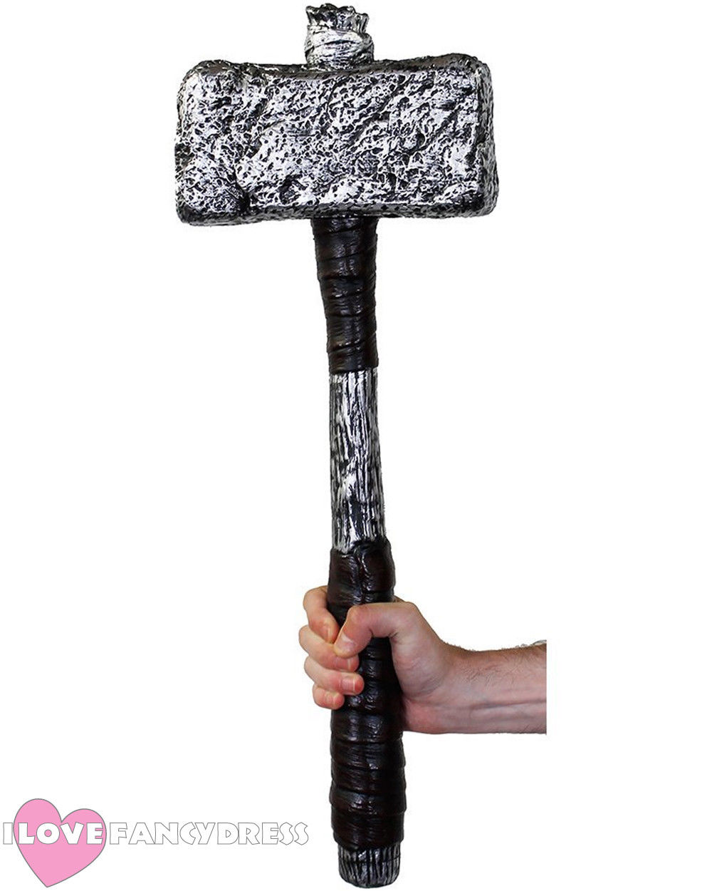 """25/"""" HAMMER BLACK AND SILVER MOVIE FILM CHARACTER FANCY DRESS COSTUME ACCESSORY"""
