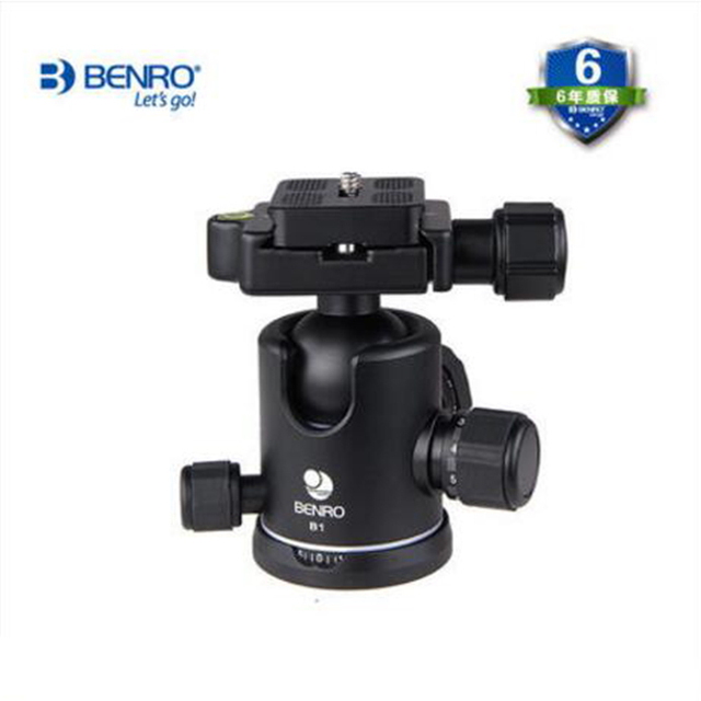 Benro B1 Professional Video Head Magnesium Tripod Head Dual Action Ball Head For Nikon Canon Sony SLR Video Camera With Plate
