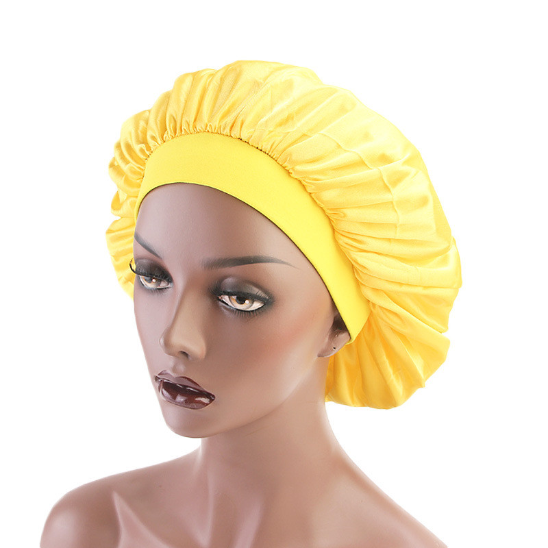 New Muslim Women Stretch Sleep Turban Hat Scarf Silky Bonnet Chemo Beanies Caps Cancer Headwear Head Wrap Hair Loss Accessories in Women 39 s Hair Accessories from Apparel Accessories