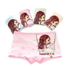 Berngi New Baby Girls 6 Pcs/lot Cotton Cartoon Underwear Children kids Print Briefs Cute PantiesFor 3 5 7 9 Years