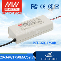 MEAN WELL PCD 60 1750B 34V 1750mA meanwell PCD 60 34V 59.5W Single Output LED Switching Power Supply