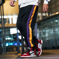 Bormandick mens pants fashions men Fashion Hip Hop Men Pants Lace up Joggers Pants Kanye West Loose Streetwear KXP18 CK11 35 P