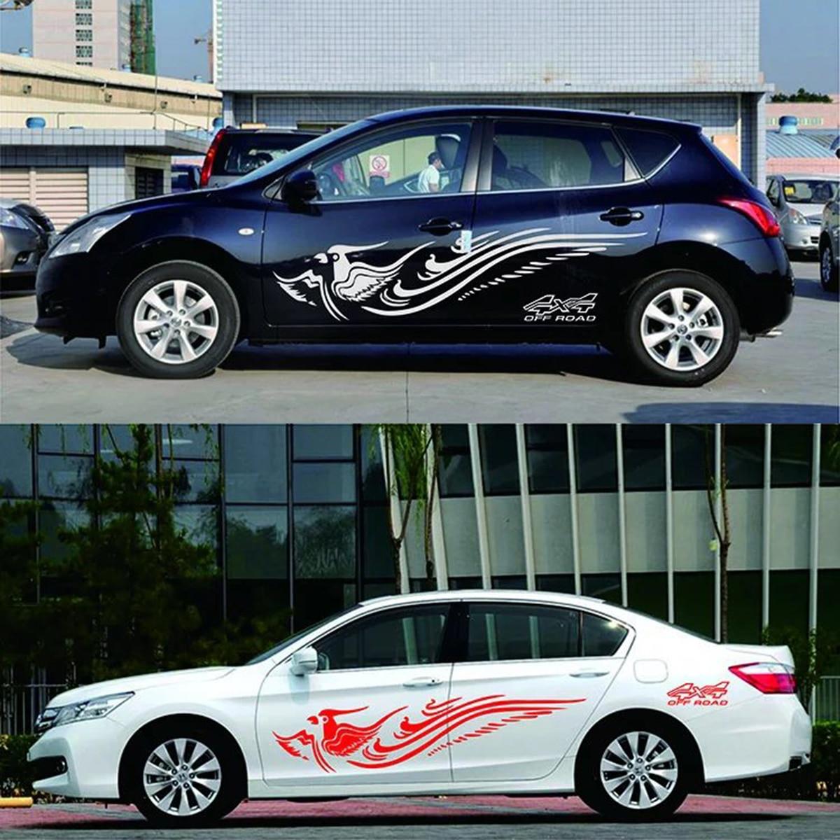 Car body sticker design singapore - Car Truck Flying Phoenix Graphics Vinyl Body Decal Side Animal Hood Sticker Phoenix Car Stickers For
