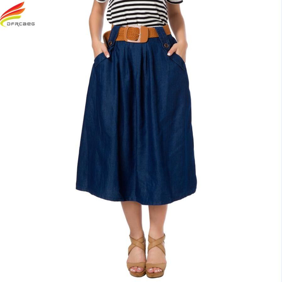 c3b4b7e273 Detalle Comentarios Preguntas sobre Correa libre Falda larga Mujer 2018  primavera y el verano de mezclilla Faldas para las mujeres long Jean falda  nuevas ...