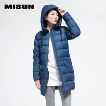 Мода печати misun случайные личности Камуфляж средней длины с капюшоном вниз пальто верхняя одежда