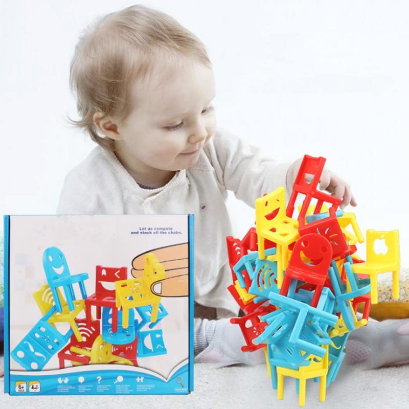 18 Pcs Balance Stühle Bord Spiel Für Kinder Kinder Pädagogisches Balance Spielzeug Familie Puzzle Bord Spiele Der Preis Bleibt Stabil