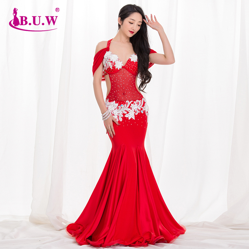 New High Grade Professional Performance Costumes Fishtail Skirt Outfit Women Bellydance Costume BY030