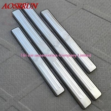 Automotive-specific modified decorative stainless steel door sill threshold of Article for Brilliance M2 accessories car-styling