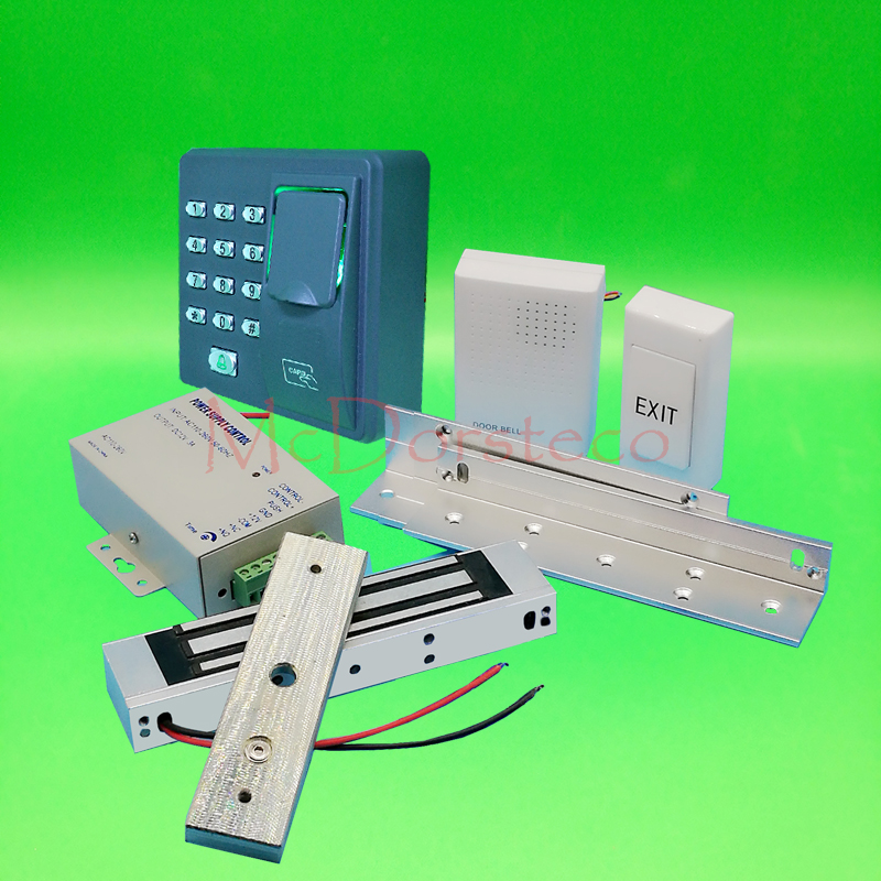 DIY Full Door Access Control System Kit Fingerprint Access Controller + 180KG Magnetic Lock door Access Control Lock System