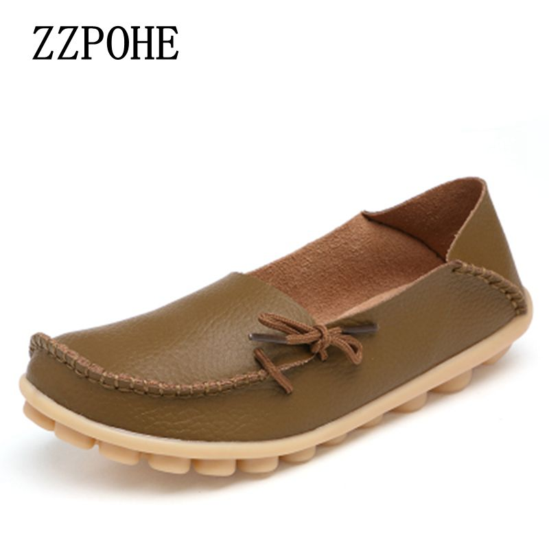 ZZPOHE 2017 Spring mother flat shoes ladies big size lace casual fashion single shoes comfortable soft soled women work shoes zzpohe women shoes spring soft soled mother black single shoes leather non slip casual comfortable middle aged ladies flat shoes