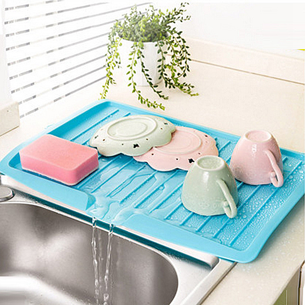 Plastic Dish Drainer Fruits Vegetables Tray Large Sink Drying Rack ...