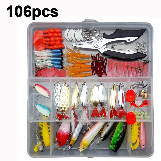 280pcs Fishing Lures Set Spoon Hooks Minnow Pilers Hard Lure Kit
